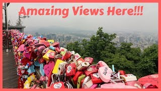 N Seoul Tower (Namsan Tower) and Love Locks Seoul South Korea Travel Vlog