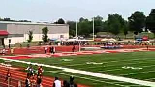 Olivet College 100m Dash 1st Place