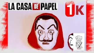 Le masque de LA CASA DE PAPEL en Pain décoré (RECETTE)