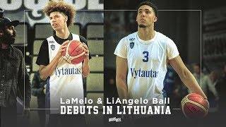 LaMelo And Liangelo Ball Makes Lithuanian Debut! Ball Brothers Are Stars In Lithuania!