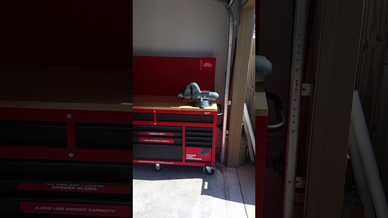 Milwaukee 60 Inch Work Bench With Wilton 1780a Mounted