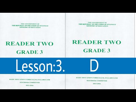 Lesson:3.D Myanmar textbook grade 3 class 2 in Rohingya language