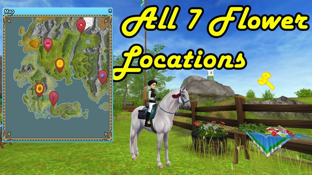 Midsummer All 7 Flower Locations Star Stable Online Youtube