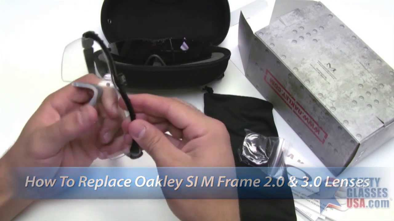 How to Change Lenses on Oakley SI M Frames - YouTube