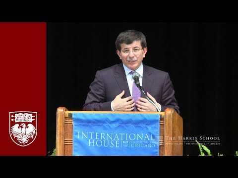 Turkish Foreign Minister at University of Chicago