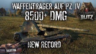 Waffenträger Auf Pz. IV - 8500+ DMG Record - Wot Blitz