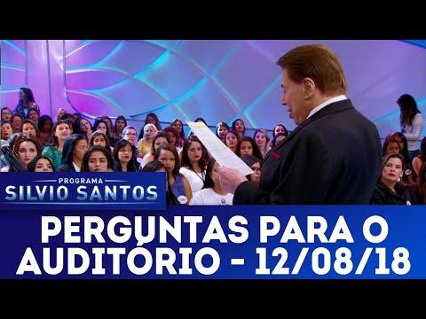 Perguntas para o auditório | Programa Silvio Santos (12/08/18)