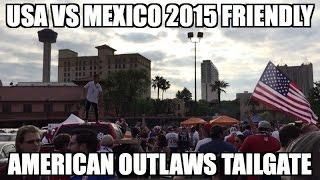 USA vs. Mexico 2015 Friendly - AO Tailgate (super little kid fan)
