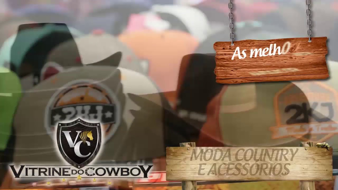 Vitrine do Cowboy a loja country no seu estilo. b80dd005331