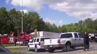 Truck Crash on HWY 401 Canada