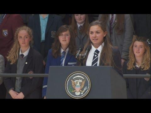 Inspirational speech: Belfast student Hannah Nelson's peace speech ahead of G8 summit