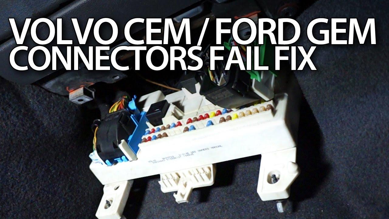 2006 Volvo Xc90 Wiring Diagram Volvo V50 Cem Ford Focus Mk2 Gem Connectors Fix Youtube