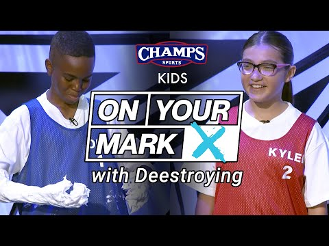 ON YOUR MARK Sneaker Game Show for Kids with Deestroying - Episode 1 | Champs Sports