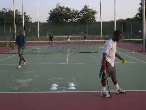 Africa Tennis Aid: The Big Guys - Serving Drill