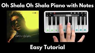 Oh Shala Oh Shala Piano Tutorial with Notes | Yuvan Shankar Raja | Perfect Piano | 2020