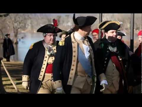 George Washington Crosses Delaware River In Annual Christmas Day Revolutionary War Reenactment