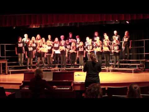 L C Middle School Choir singing Erie Canal