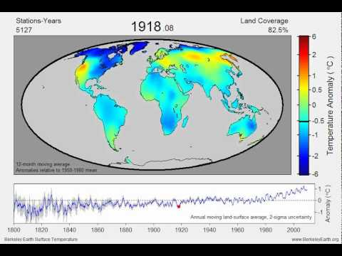 Berkley Earth Surface Temperature animation