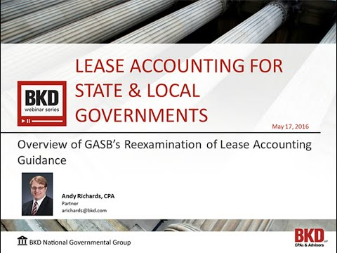 Lease Accounting for State & Local Government
