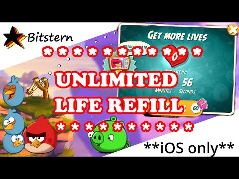 ANGRY BIRDS 2 Unlimited Lives & Hearts Trick (No Cheat / Hack) | iOS exclusive (iPhone, iPad)
