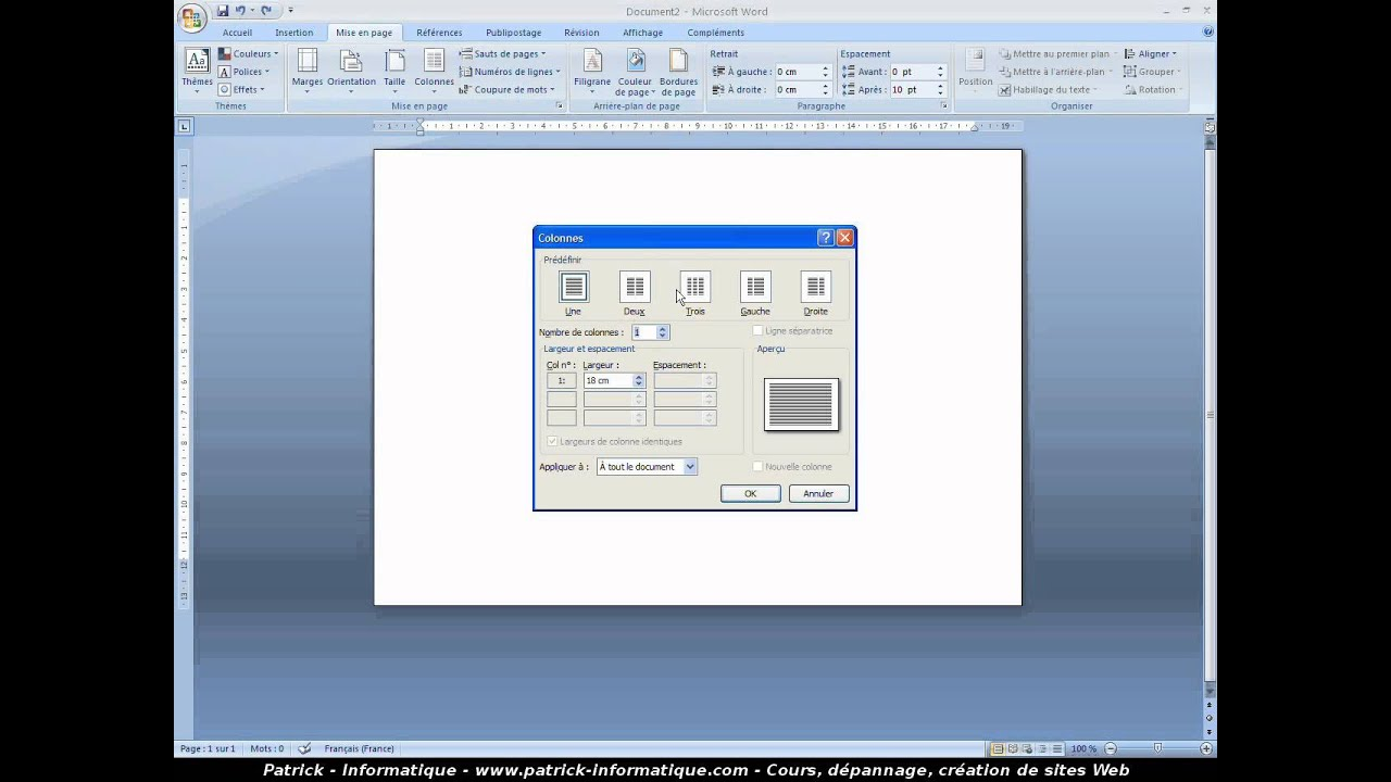 Tuto Creer Une Carte Un Menu Word 2007 Youtube