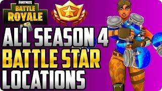 Fortnite: All Season 4 Battle Star Locations! (Last Chance To Max Battle Pass)