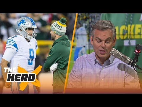Colin Cowherd on Aaron Rodgers, Matthew Stafford after Lions beat Packers on MNF | THE HERD