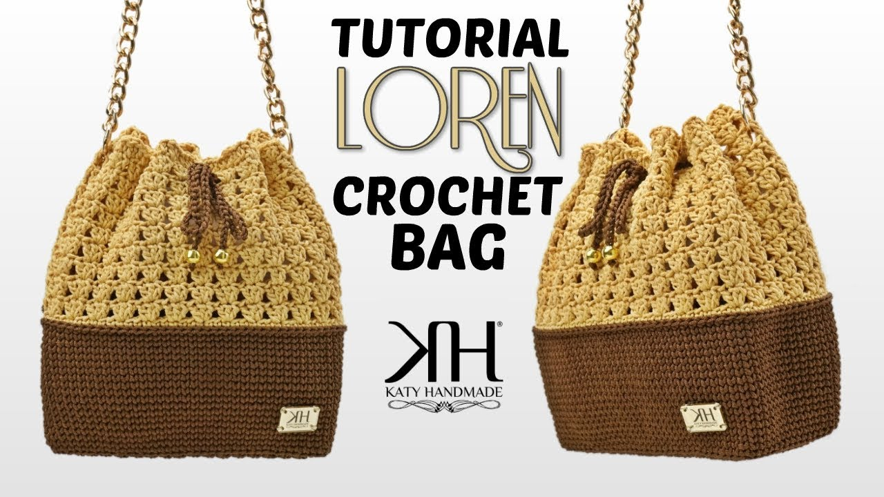 TUTORIAL BORSA A SECCHIELLO UNCINETTO -
