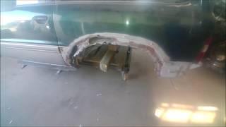 Naprawa błotników Patrol y61, paskowanie, Car fender repair
