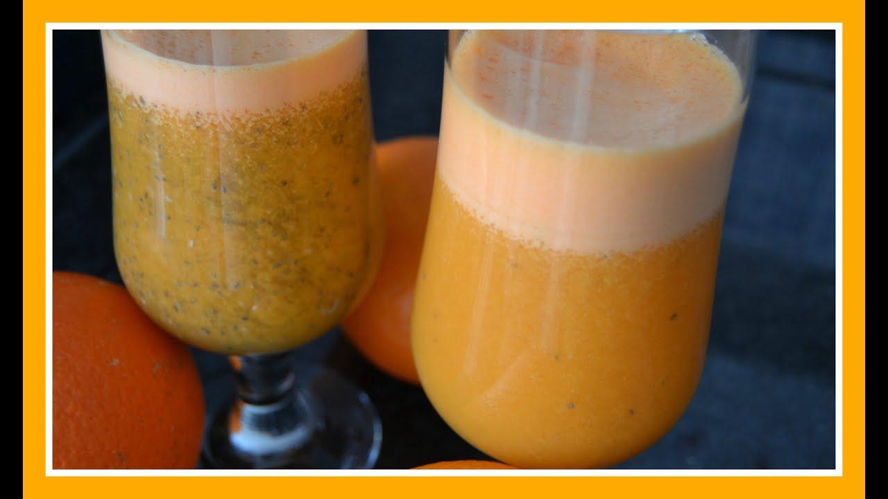 suco detox de cenoura e laranja