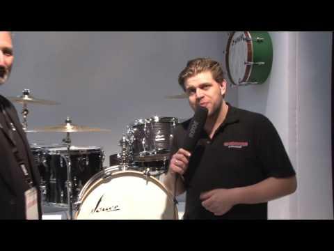 Musikmesse 2017 SONOR Vintage Serie Black Slate Finish Drum Kits (deutsch)