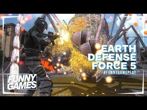 CÓMO MATAR HORMIGAS GIGANTES en Earth Defense Force 5   GAMEPLAY thumbnail