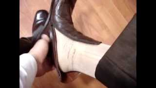 Mexican (brown) elegant suit + boot + Louis Vuitton - tie + Gold sheer socks (stockings) 3