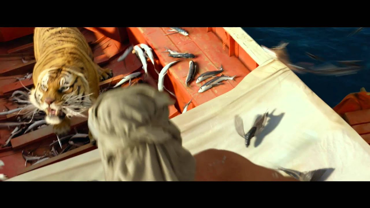 Life of pi 39 flying fish 39 clip in cinemas now youtube for Life of pi pool scene