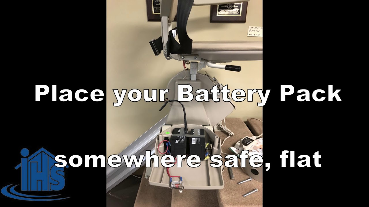 R Replace Batteries In Bruno Stair Lift SRE3000  Chair Battery  Replacement