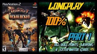 Ratchet: Deadlocked - Longplay 100% (Part 1 of 2) (Ps2) Hero Difficulty Walkthrough (No Commentary)