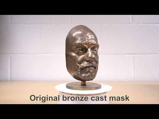 Vantablack S-VIS vs. VBx1 on a bronze and 3D printed mask set