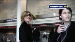 EXCLUSIVE: Rene Russo and Daughter At LAX in Los Angeles.