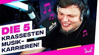 Die 5 KRASSESTEN Musik-Karrieren! (YouTuber Edition) | TOP 5