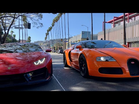 #RDBLA Running through LA with a Bugatti and Widebody Lambo!