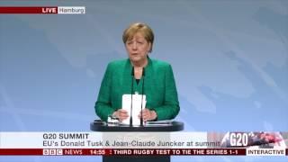 The G20 SUMMIT: Angela Merkel statement- BBC News