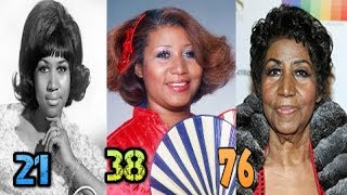 Aretha Franklin ♕ Transformation From 14 To 76 Years Old
