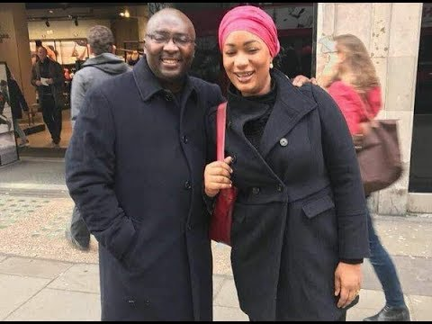 Ghana Vice President Bawumia pictured with wife Samira in London