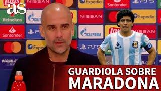 MUERE MARADONA | Las palabras de GUARDIOLA tras el fallecimiento de MARADONA | Diario AS