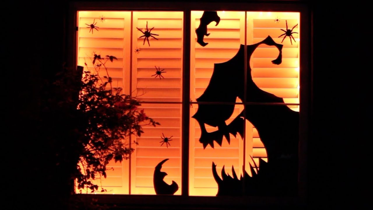 diy dollar store halloween decor window display | decorate with me