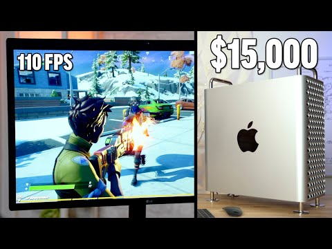 Gaming On A $15,000 Mac Pro! - Vega II Bootcamp