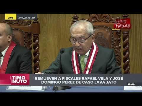 Pedro Chávarry remueve a fiscales Rafael Vela y José Domingo Pérez del caso Lava Jato