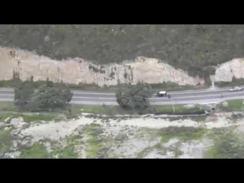 Persecución Policía desde helicóptero plan retorno (Bogotá) Colombia