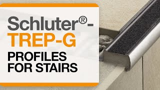 How to install tile edge trim on stairs: Schluter®-TREP-G profile