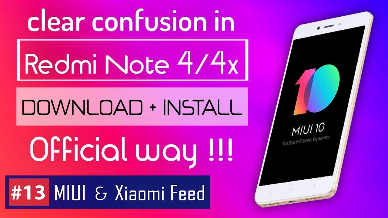 How to install MIUI 10 in Redmi Note 4 / 4x 🇮🇳 Redmi Note 4 vs 4x | MIUI  10 for Redmi Note 4